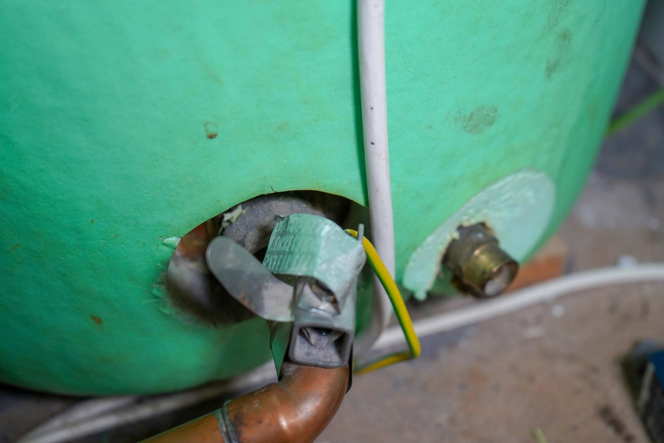 Vented cylinder installation in North Devon
