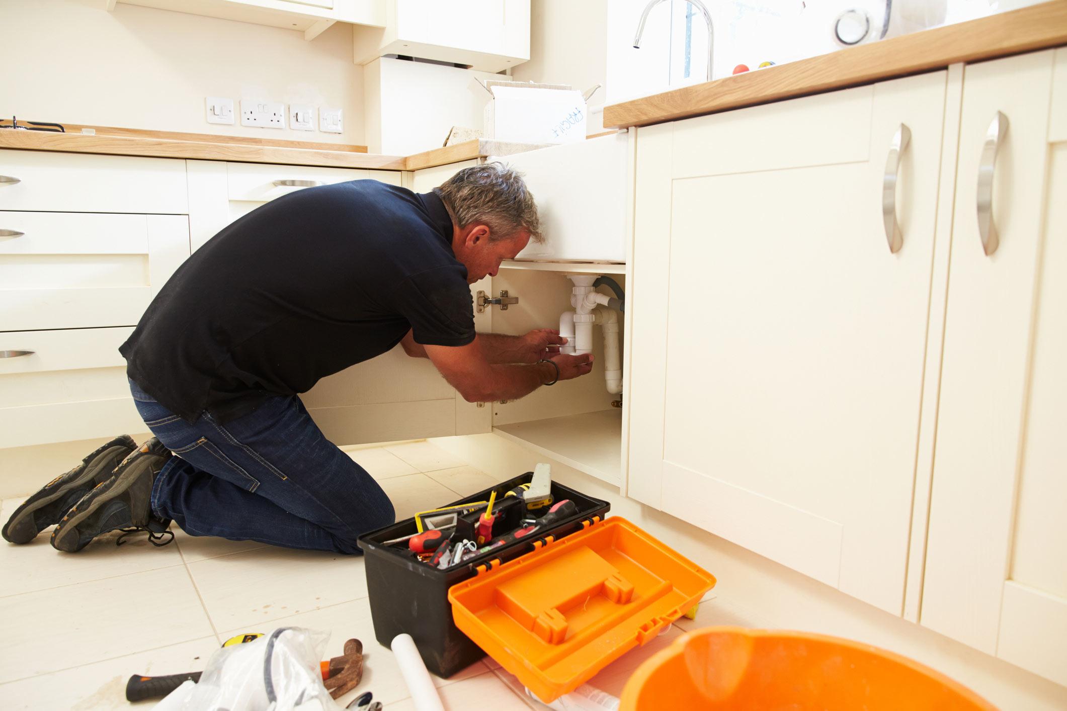 North Devon plumber fixing leaking tap
